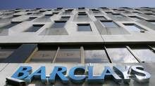 The logo of Barclays bank is seen at a branch in central London. (TOBY MELVILLE/REUTERS)