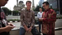 Research In Motion CEO Thorsten Heins bonds with BlackBerry users in Jakarta, Indonesia. (Kemal Jufri/Panos Pictures)