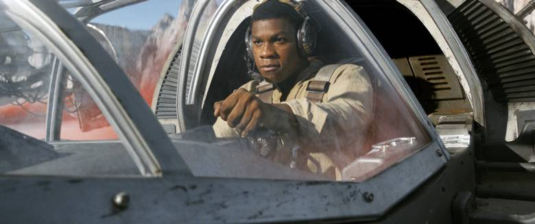 John Boyega in Star Wars: The Last Jedi.