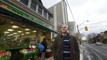 'If you don't have any money for food, it doesn't matter how close the store is,' says Brian Cook, research consultant with Public Health's Toronto Food Survey, seen here at a corner store in St. James Town. (Fred Lum/The Globe and Mail)