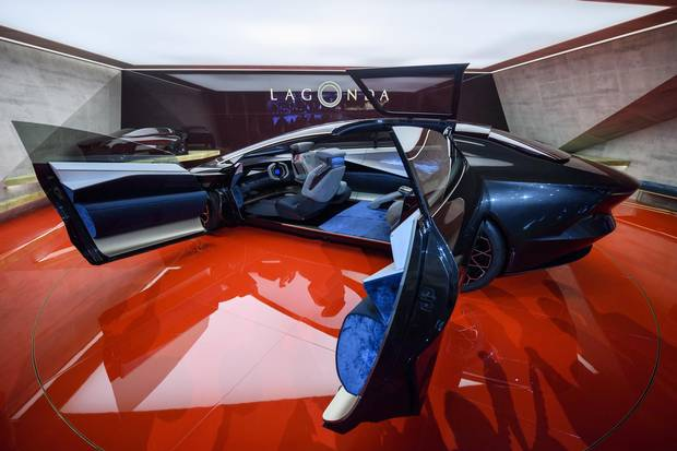 The Aston Martin Lagonda Concept car presented during the press day at the 88th Geneva International Motor Show on Tuesday, March 6, 2018.
