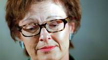 Former Nova Scotia cabinet minister and veteran newspaper editor Jane Purves has died at 63. Photo taken in Halifax, NS, Monday April 17, 2000. (Tim Krochak/CP)