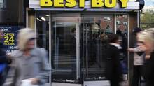 The entrance to the Best Buy store is seen in New York, March 26, 2012. (© Shannon Stapleton / Reuters/Reuters/Shannon Stapleton)