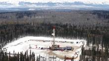 A drilling rig in the Montney Shale, near Fort St. John, B.C. (Jason Dziver/Talisman Energy)