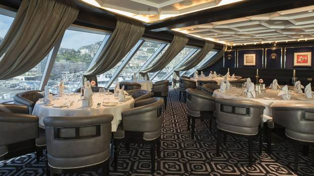 Every dish served in the Seven Seas Explorer's eateries can also be delivered to patrons' rooms at any time of day.