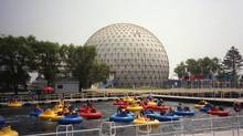 Bumper boats at Ontario Place in Toronto, August, 2004. (Richard Buchan/THE CANADIAN PRESS)