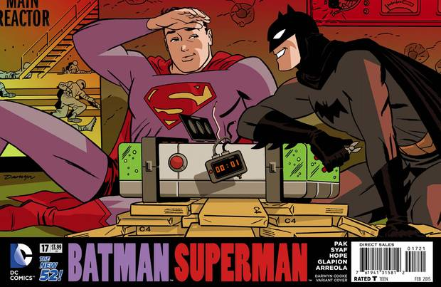One of several 'widescreen' variant covers Mr. Cooke did for DC Comics in 2014.