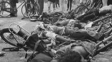 Students died with their bicycles near Tiananmen Square in the early hours of June 4, 1989. (Associated Press)