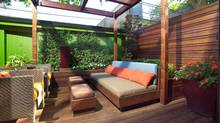 Paul Johnston's outdoor space, designed by landscape architect Ron Holbrook.
