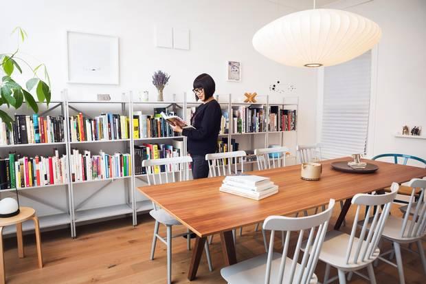 Deborah Wang in her dining room in Toronto.