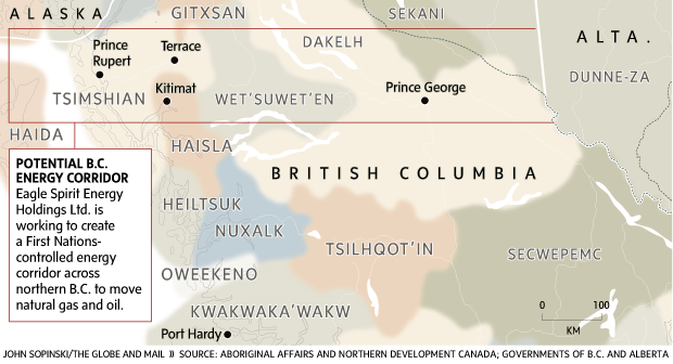 Potential B C  energy corridor - The Globe and Mail