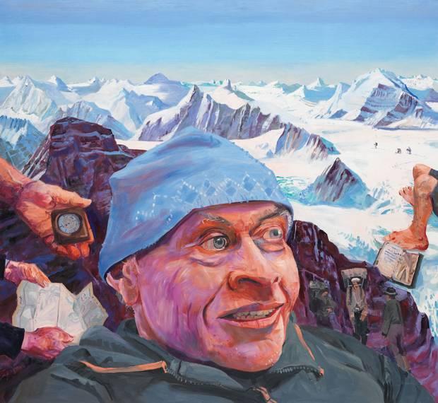 John Hartman, Don Gardner, The Hooker Icefield, 2015, oil on linen, 48 x 68 inches