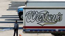 File photo of Weston Bakery truck trailers sitting at a George Weston Ltd. owned facility in Toronto. (Louie Palu/The Globe and Mail)
