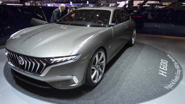 The Pininfarina H600 is seen at the Geneva International Motor Show.