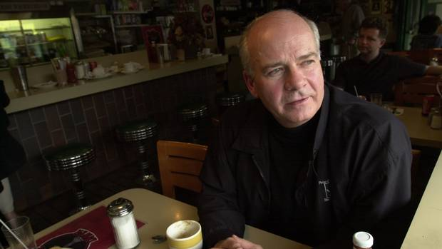 Peter Mansbridge sits down with The Globe at the Avenue Road Diner on June 17, 2002.