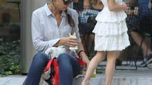 Suri Cruise on Aug. 6, 2012, at New York's Museum of Modern Art to take an art class. (Jae Donnelly/INFphoto.com)