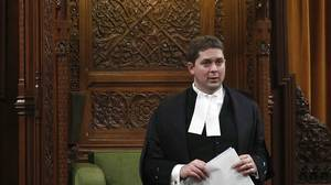 House of Commons Speaker Andrew Scheer, who on Monday will announce whether MPs will be required to vote on every single amendment to Bill C-38 or whether some will be grouped together or dismissed outright. (Chris Wattie/Reuters)