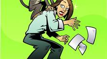 There's a Monkey on My Back! Thinkstock Managers can't let subordinates dump their problems on them, it's like getting a monkey on your back. (Steve Porter/Thinkstock)