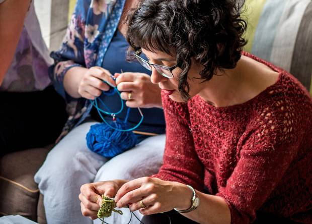 Carol Feller, a well-known Irish knitter based in Cork, runs knitting retreats and workshops, and is the feature attraction on Holland American Line's Canada and New England knitting cruise.