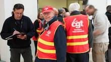 France's CGT labour union began talks with Veolia Environnement on March 20, 2013, concerning 1,500 jobs the company wishes to cut at its French water division. (STRINGER/FRANCE/Reuters)