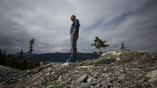 Ellis Ross, chief councilor of the Haisla First Nation, stands for a photograph on the Haisla First Nations reserve in the village of Kitimat, B.C.