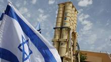 An Arrow II missile interceptor is displayed in front of journalists at an Israeli air defence command in the Palmahim military base south of Tel Aviv May 12, 2011. (NIR ELIAS/REUTERS/NIR ELIAS/REUTERS)
