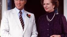 Margaret Thatcher and Pierre Trudeau as shown in Australia in this Oct. 4, 1981 file photo. (PETER BREGG/THE CANADIAN PRESS)