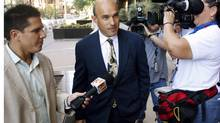 BlackBerry billionaire Jim Balsillie arrives at the U.S. Federal Bankruptcy Court in Phoenix on Thursday. (JOSHUA LOTT/Joshua Lott/Reuters)