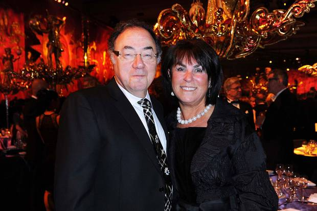 Barry and Honey Sherman attend the Brazilian Carnival Ball in 2011.