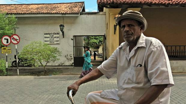 The brick and stone-paved streets of Galle Fort, a UNESCO World Heritage Site, are dominated by pedestrians and cyclists.