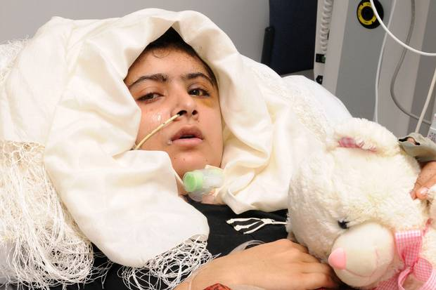 Malala Yousufzai is seen recuperating at the The Queen Elizabeth Hospital in Birmingham on Oct. 19, 2012.