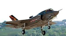 The F-35: high flight, high hopes. (Lockheed Martin/CP)