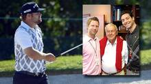 Ryan Moore with Geoff Tait, Arnold Palmer and Bobby Pasternak