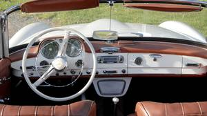 Roland Wilhelm drives his 1959 Mercedes-Benz 190 SL to Tim Horton's every day.