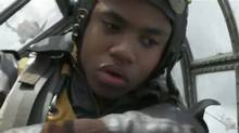 "Screen grab from the online trailer for the film ""Red Tails,"" starring Cuba Gooding Jr. and Terrence Howard"