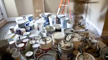 Paint being used during a renovation in Toronoto in 2008. (Glenn Lowson For The Globe and Mail/Glenn Lowson For The Globe and Mail)