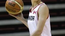 In this file photo, point guard Kia Nurse of the Canadian womenâs national basketball team during a practice at the David Braley Centre on the McMaster University campus in Hamilton May 17, 2013. Nurse scored eight points in Canada's 70-44 loss to China at the Four Nations basketball tournament on Saturday. (Moe Doiron/The Globe and Mail)