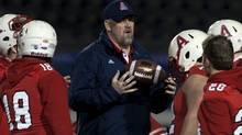 Acadia Axemen head coach Jeff Cummins has won the Frank Tindall trophy awarded to the top Canadian Interuniversity Athletics football coach. THE CANADIAN PRESS/Andrew Vaughan (Andrew Vaughan/CP)
