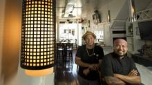 Les Sabilano, left, and Rudy Boquila of Lamesa Filipino Kitchen (Kevin Van Paassen/The Globe and Mail)