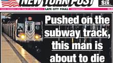 New York Post cover for Dec. 4, 2012.
