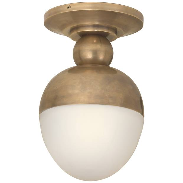 Clark flush mount light by Thomas O'Brien, US$496 at Circa Lighting (circalighting.com).