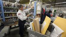 Donna Yerxa, a 28-year veteran of Canada Post, says she's afraid the end of mail delivery might mean a loss of personal touch. (Deborah Baic/The Globe and Mail)