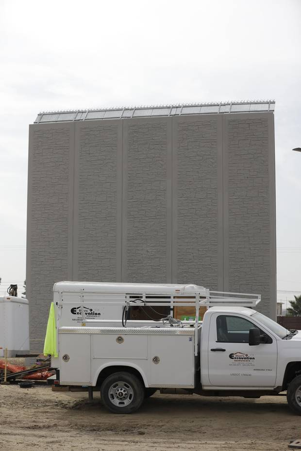 A border wall prototype by Texas Sterling Construction Company.