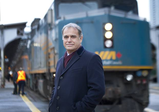 CEO of VIA Rail Yves Desjardins-Siciliano is photographed at Union Station in Toronto, Ontario, Tuesday, December 9, 2014.