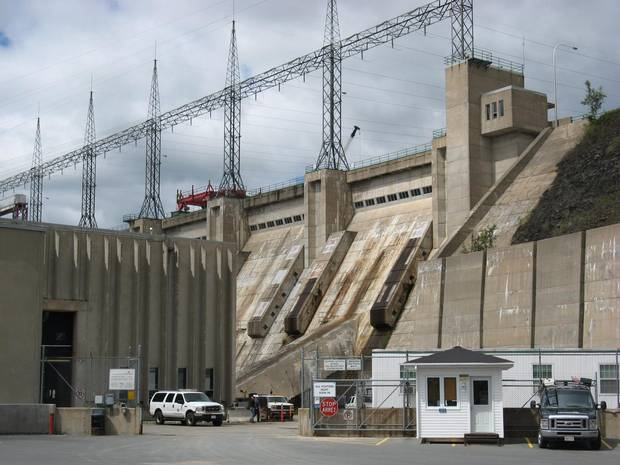 The Mactaquac Hydro Electric Dam is shown near Fredericton on July 27, 2010.