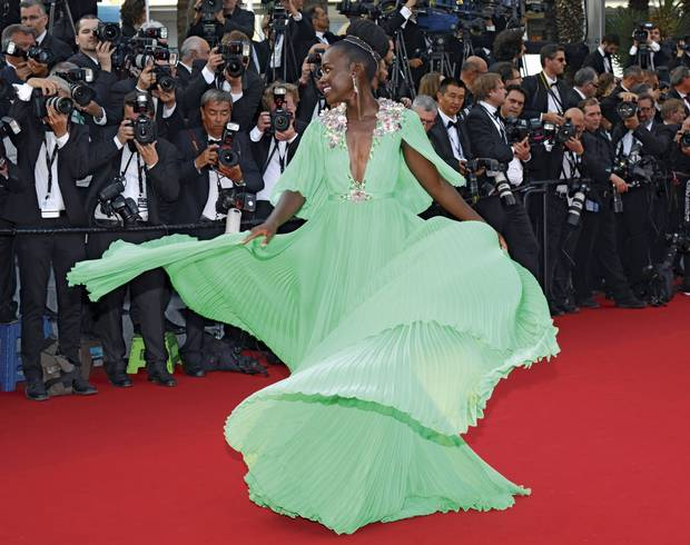 Lupita Nyong'o attends the opening ceremony and premiere of La Tete Haute during the 68th annual Cannes Film Festival on May 13, 2015, in France.