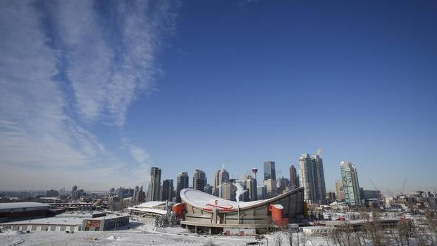 The Calgary skyline. The city is currently weighing whether to bid on the 2026 Winter Olympics.