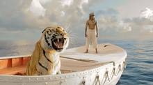 "This film image released by 20th Century Fox shows Suraj Sharma in a scene from ""Life of Pi."" The film was nominated for a Golden Globe for best drama on Thursday, Dec. 13, 2012. (Jake Netter/AP)"