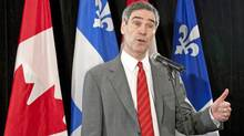 Michael Ignatieff responds Stephen Harper's musings about the Liberal Leader resurrecting a coalition during a Montreal news conference on Sept. 10, 2009. (Paul Chiasson/The Canadian Press)