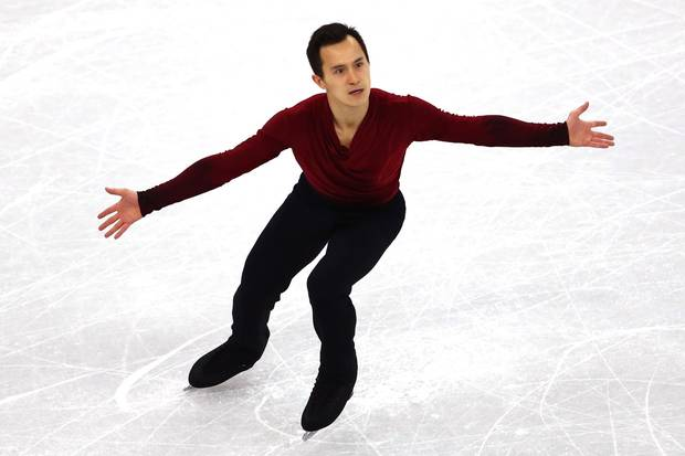 Feb. 17, 2018: Patrick Chan of Canada competes during the men's single free program on Day 8 of the Pyeongchang 2018 Winter Olympic Games.